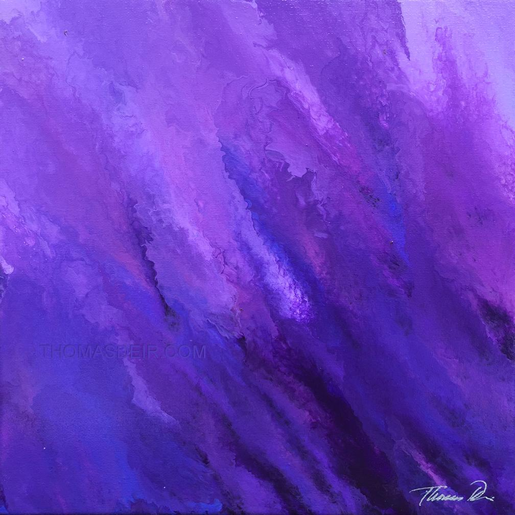 Purple Icicles Painting
