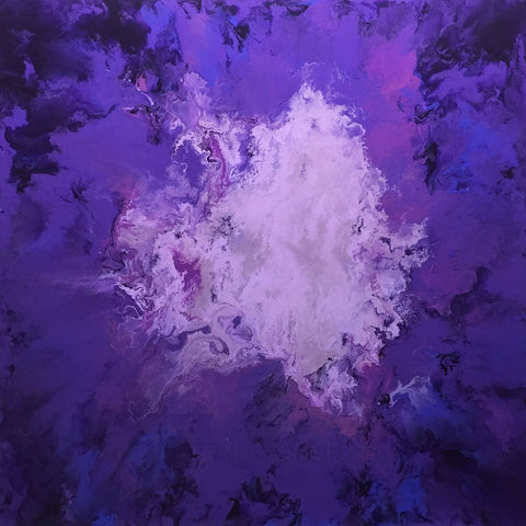 Purple Orb 24x24 Painting