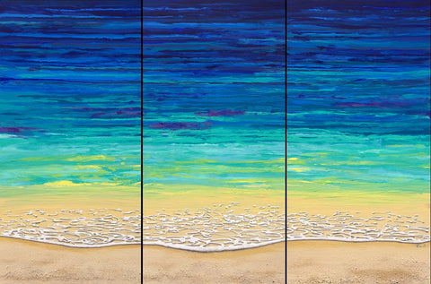 Sea Foam Triptych 48x72 Painting