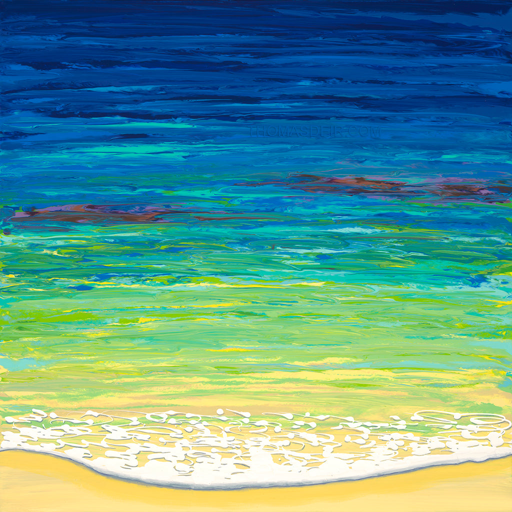 Sea Foam Blues Giclee
