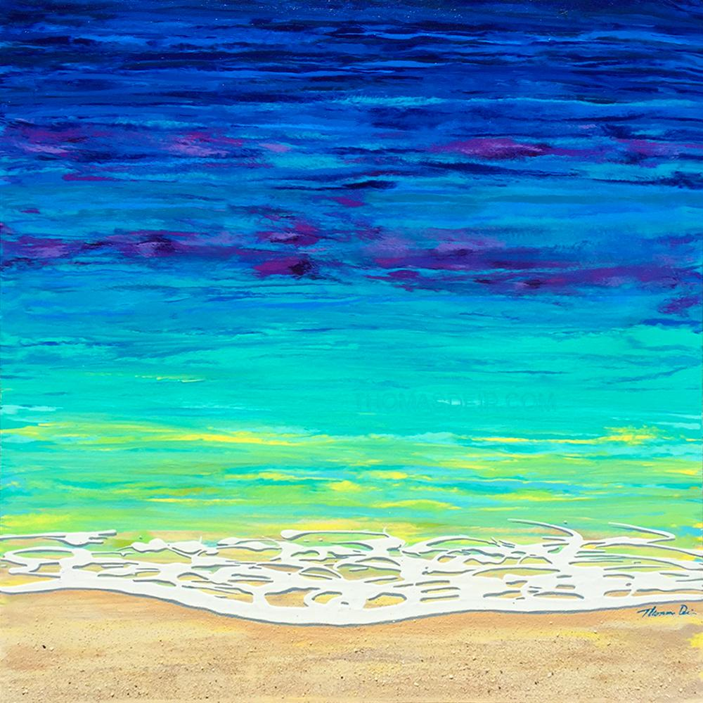 Sea Foam 24x24 Painting