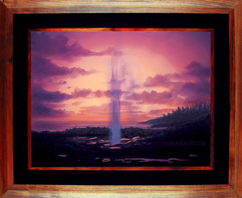 Spouting Horn 24x18 Framed Painting