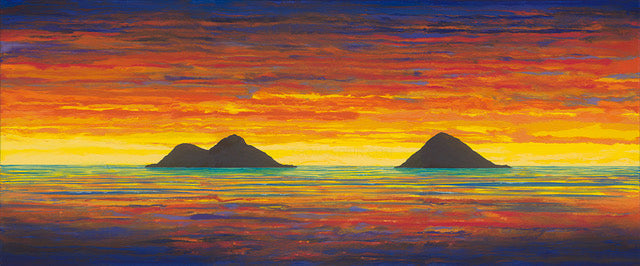 Sunrise Lanikai Painting by Hawaii Artist Thomas Deir