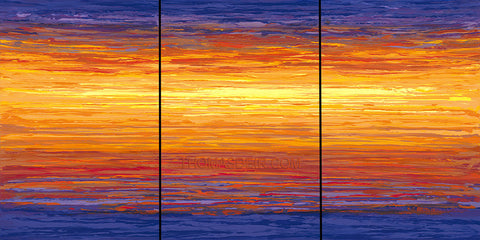 Hawaii Abstract Painting Sunset