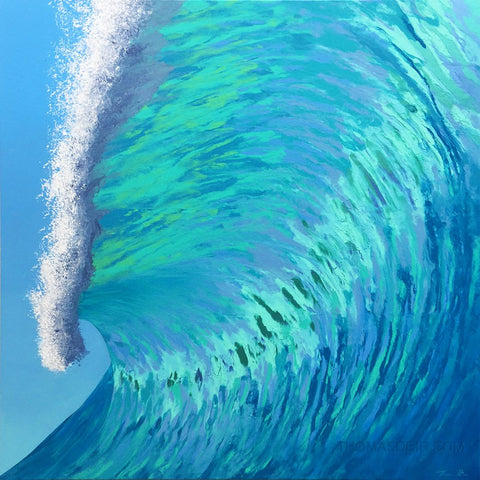 The Turquoise Barrel Painting by Hawaii Artist