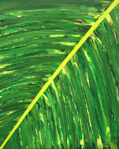 Tropical Frond Left 16x20 Painting