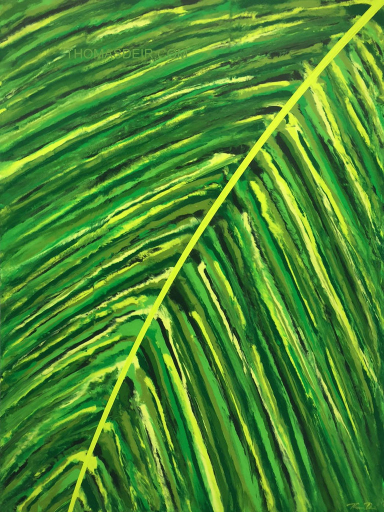 Tropical Frond Left 30x40 Painting