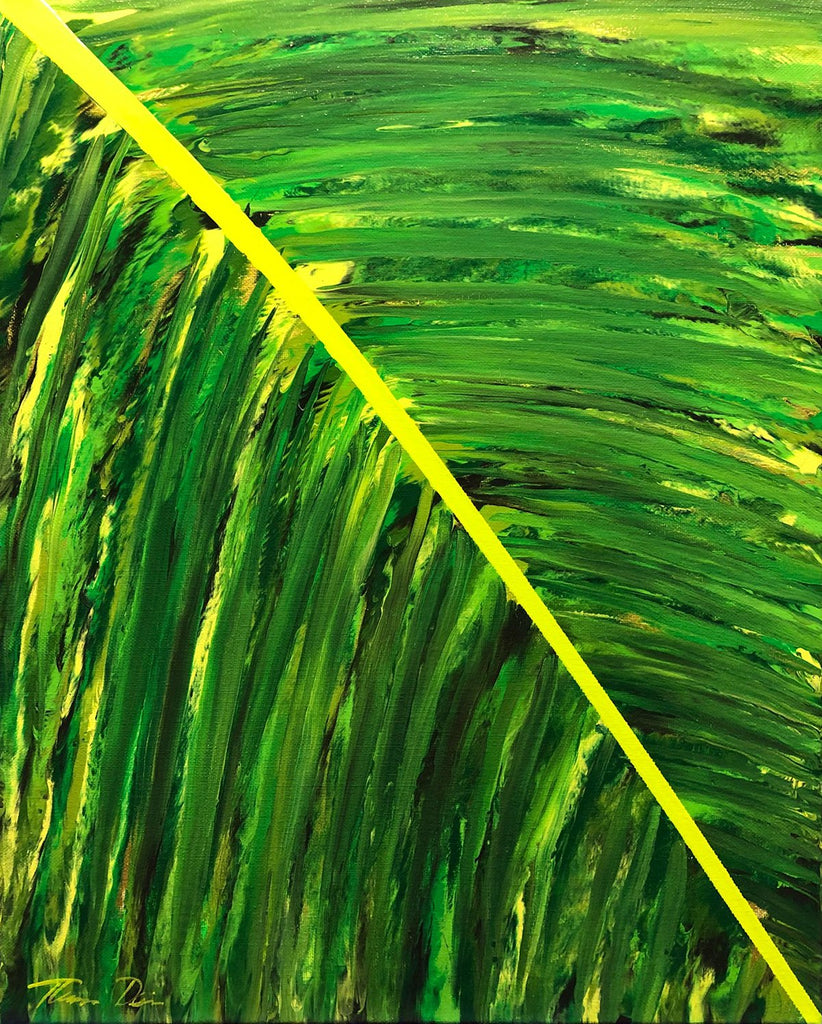 Tropical Frond Right 16x20 Painting