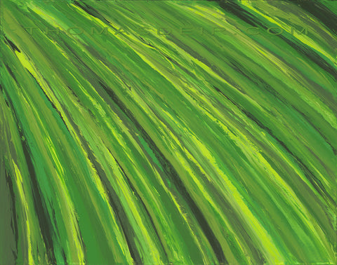 Tropical Leaf by Hawaii Artist Thomas Deir