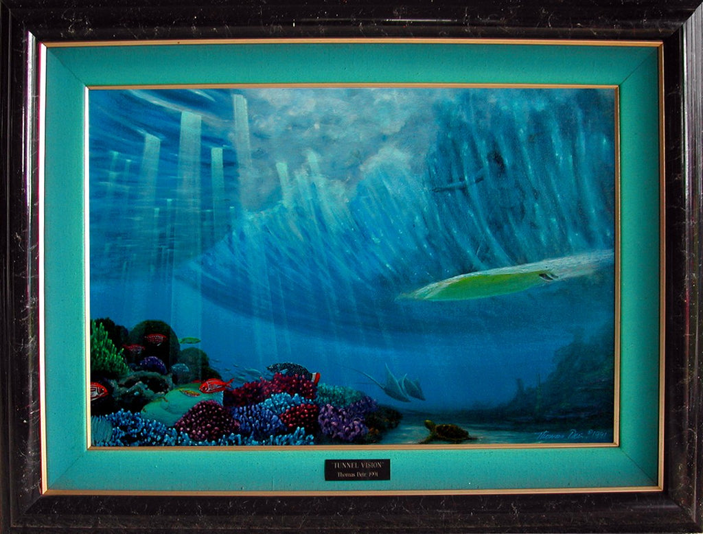 Tunnel Vision 25x17 Framed Painting