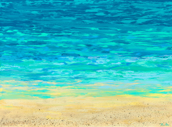 Turquoise Beach 40x30 Horizontal GW Painting