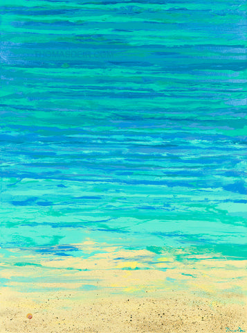 Turquoise Beach 30x40 Vertical GW Painting
