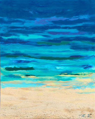 Turquoise Beach 18x24 GW Painting