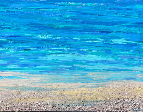 Turquoise Beach 3 16x20 Painting