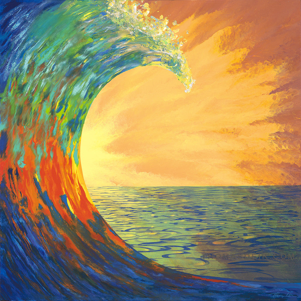 Wave Expression Painting by Hawaii Artist