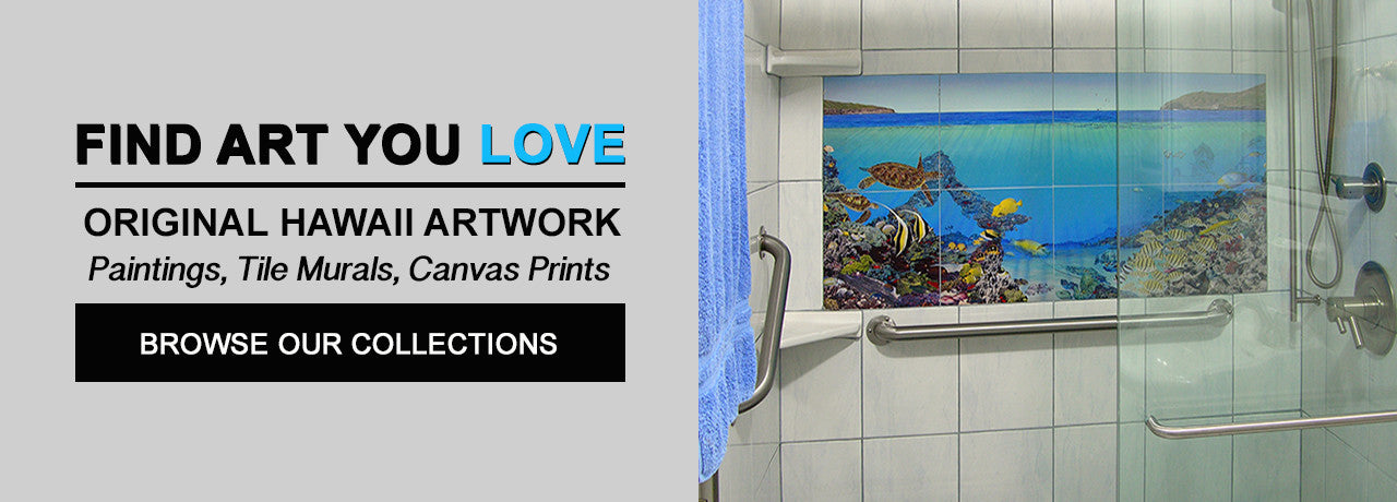 Hawaii tile murals for showers