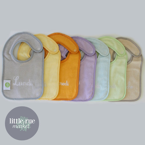 French 'Days of the Week' Baby & Toddler Bib Sets