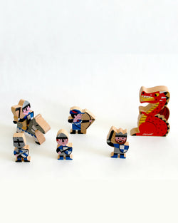 Mini Story Wooden Toy Kit - Knights