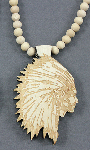 Legendary Handmade Native American Chief Pendant