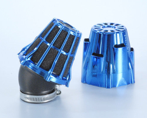 Polini 30 degree angled air filter 37mm for Dellorto style carbs - Dynoscooter.com