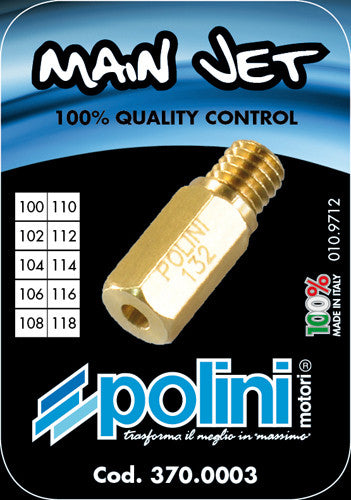 Polini jet kit for Keihin,OKO,Polini, PWK carburetors includes jet sizes 100-118 - Dynoscooter.com