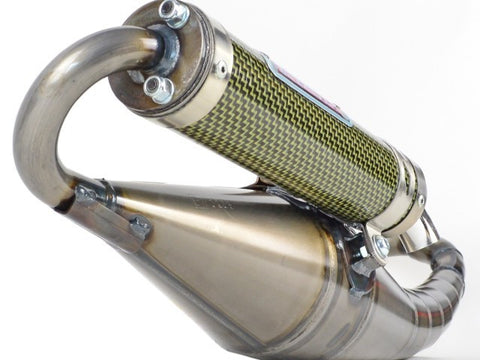 Gianelli Reverse Exhaust for the Kymco Agility People Super 8 and Super 9 2 stroke - Dynoscooter.com