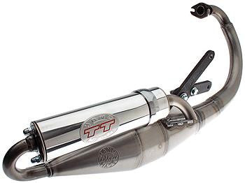 Leo Vince TT Handmade Exhaust for the 1999 Yamaha Zuma 2 stroke Vertical - Dynoscooter.com