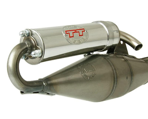 Leo Vince TT Handmade Exhaust for the Aprilia SR50 2 Stroke Minarelli engine - Dynoscooter.com