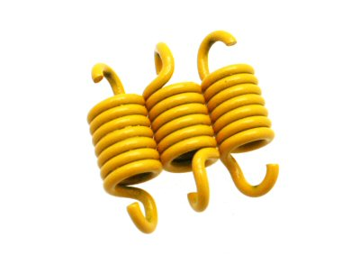 Yellow 1500 RPM clutch springs for Yamaha Zuma and Minarelli scooters - Dynoscooter.com