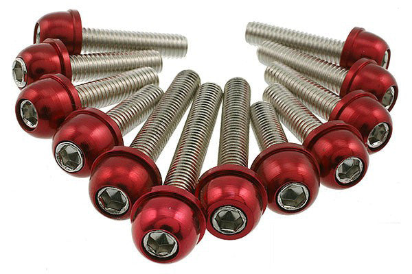 STR8 Red anodized transmission cover screw kit Minarelli - Dynoscooter.com
