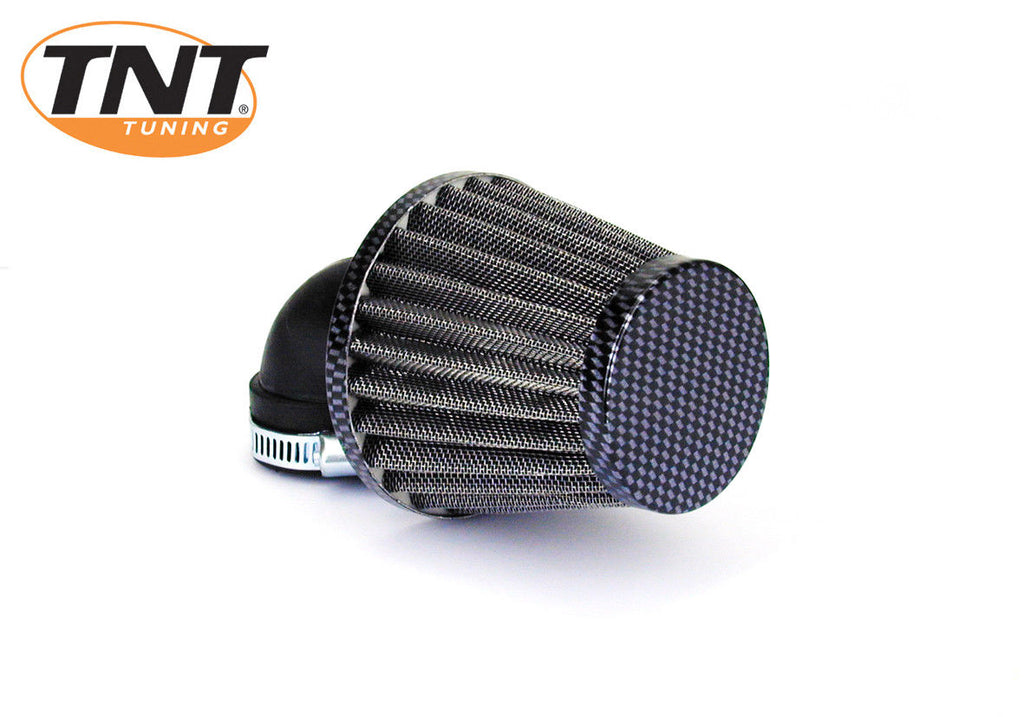 90 Degree Carbon air filter for Dellorto carburetors 35mm - Dynoscooter.com