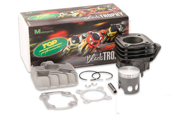 "Top Performances ""Black Trophy"" 70cc kit Minarelli Horizontal 10mm wrist pin - Dynoscooter.com"