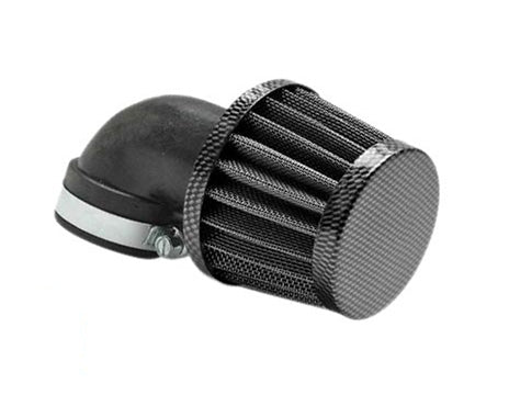 90 Degree Carbon air filter for Dellorto carburetors 28mm-35mm - Dynoscooter.com