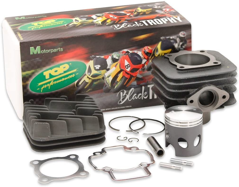 "Top Performances ""Black Trophy"" 70cc Cylinder kit for the Vespa ET2 / Piaggio Engine"