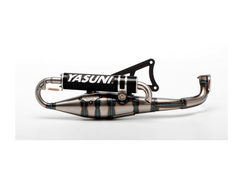 Yasuni C20 Carrera exhaust Black edition Minarelli horizontal - Dynoscooter.com