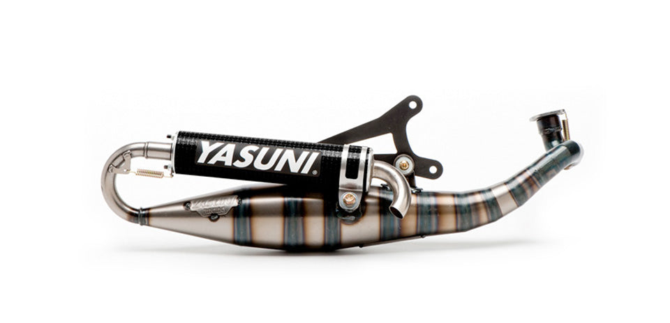 Yasuni Carrera City C16 Carbon Exhaust Minarelli Horizontal - Dynoscooter.com
