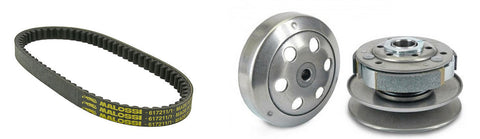 Honda Elite Dio ZX rear pulley with belt - Dynoscooter.com
