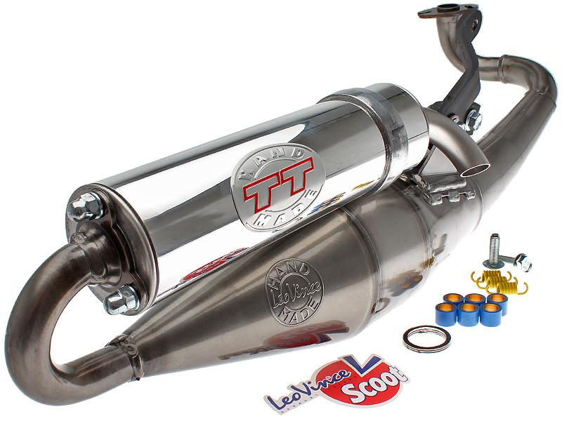 Leo Vince TT Handmade Exhaust for the 2002-2011 Yamaha Zuma 2 stroke - Dynoscooter.com