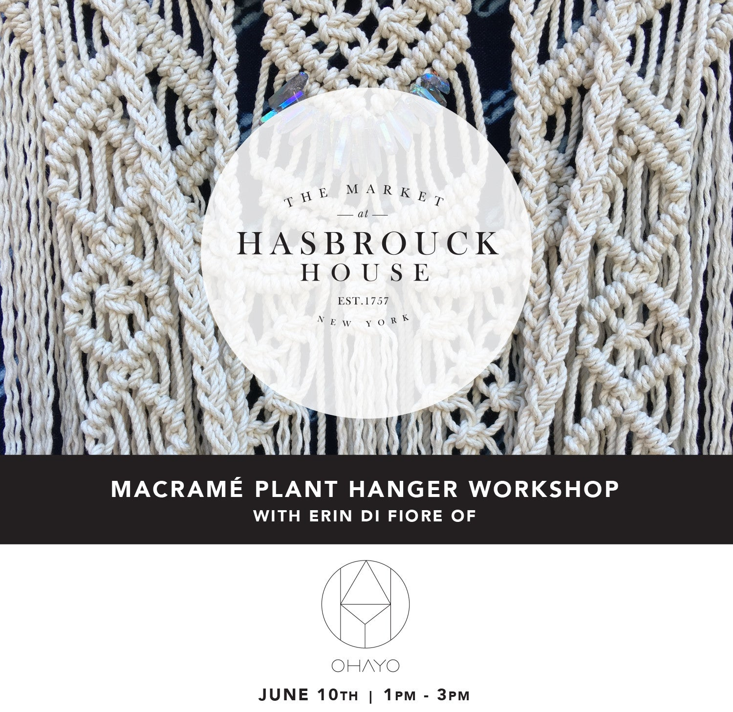 MACRAMÉ PLANT HANGER WORKSHOP | THE MARKET AT HASBROUCK HOUSE