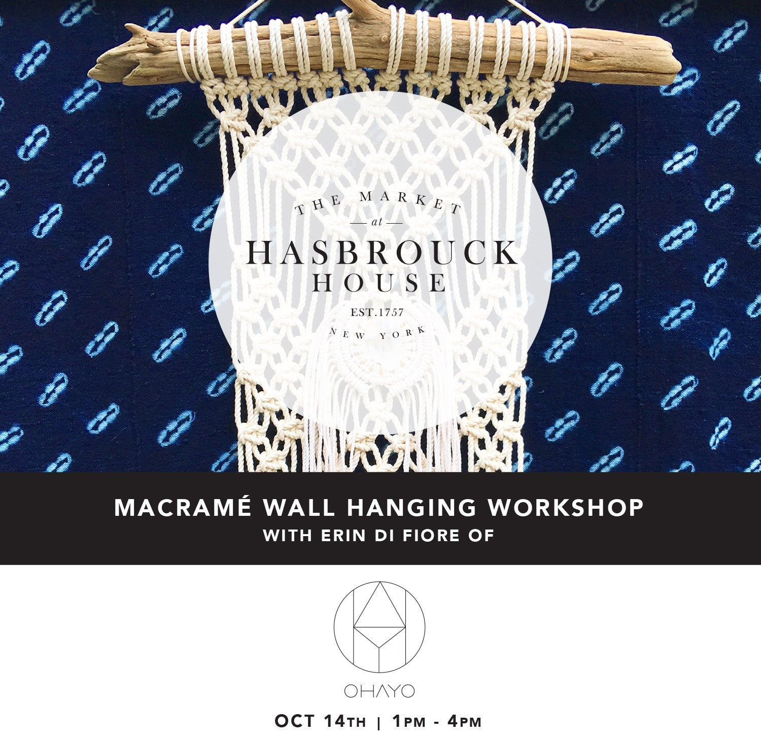 MACRAMÉ WALL HANGING WORKSHOP | THE MARKET AT HASBROUCK HOUSE