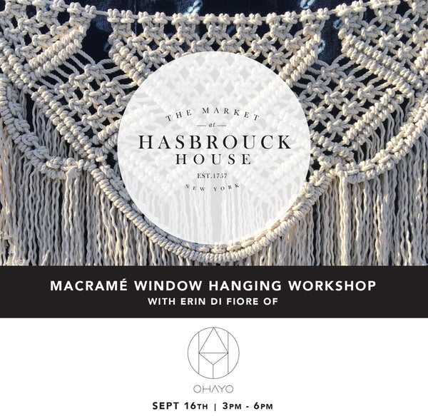 MACRAMÉ WINDOW HANGING WORKSHOP | THE MARKET AT HASBROUCK HOUSE