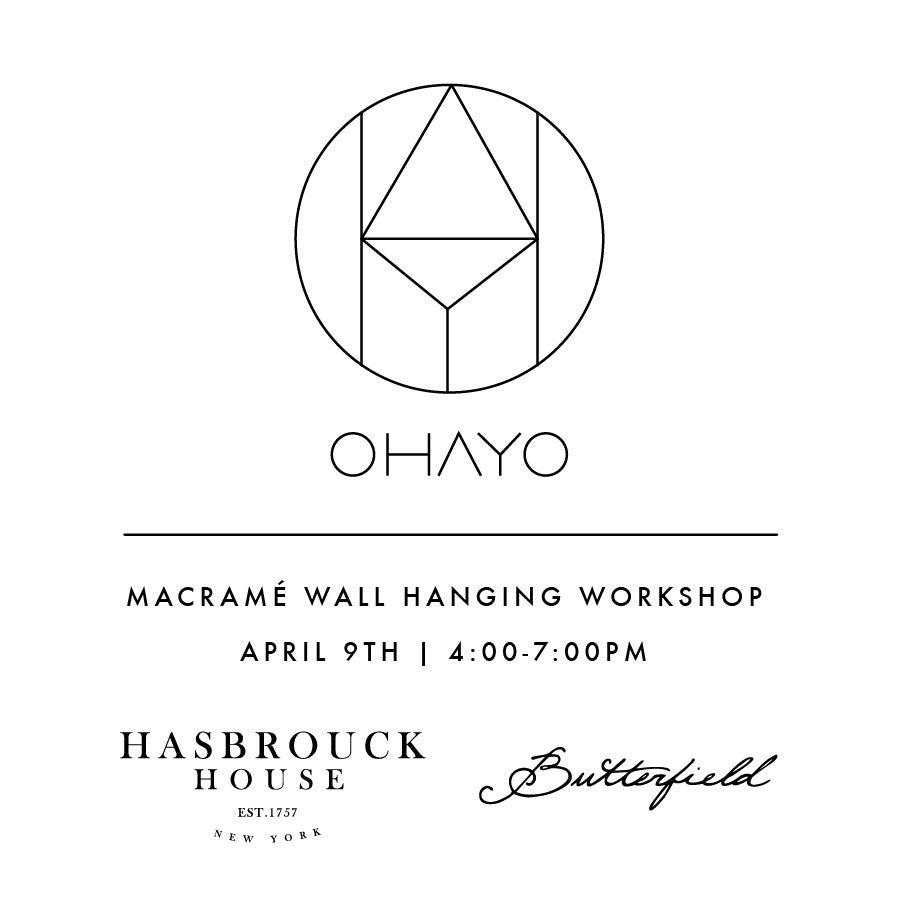 HASBROUCK HOUSE | MACRAMÉ WALL HANGING WORKSHOP