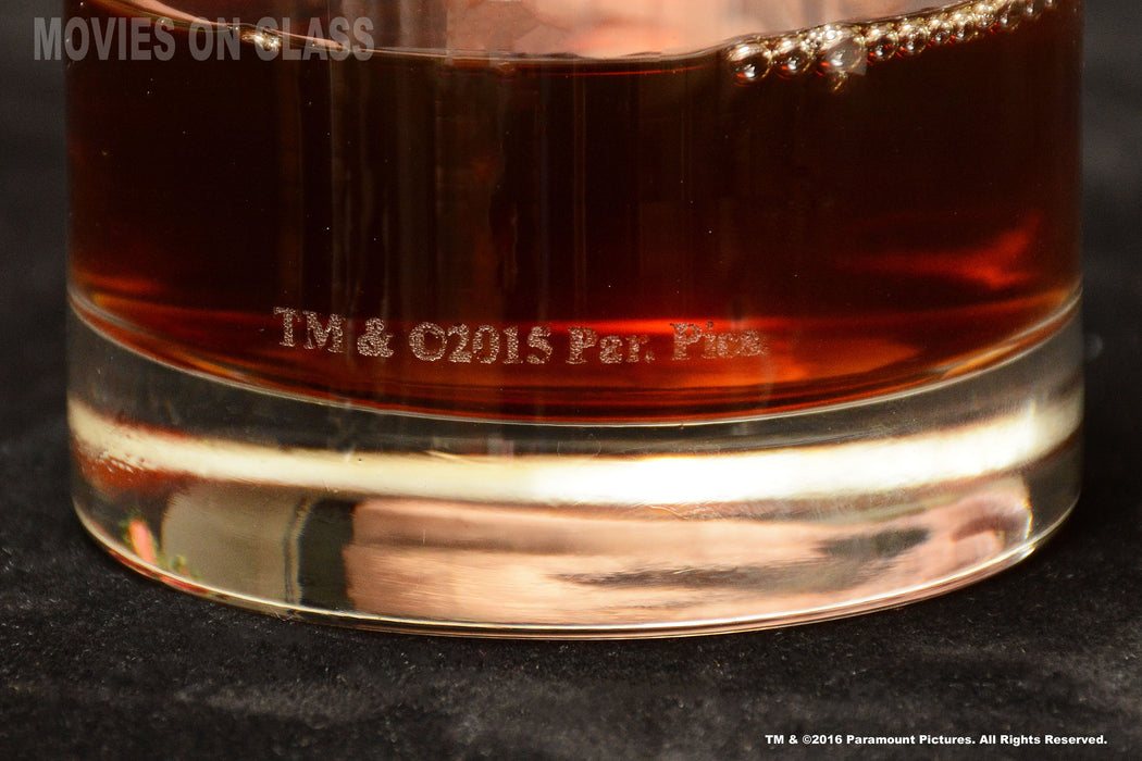 Premium Etched Godfather Movie Engraved Logo Whiskey Glass Godparent Gift 11 Ounces