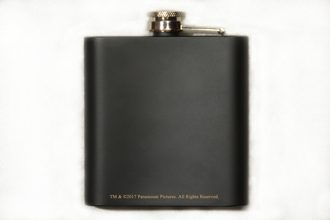 Movies On Glass - The Godfather Movie Engraved Logo Stainless Steel Flask