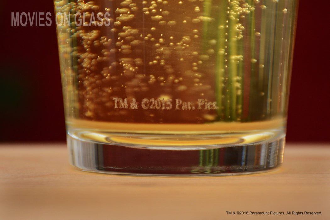 "Premium Etched Forrest Gump Movie Engraved Logo With Quote,""Life is like a box of ..."" Pint Glass"