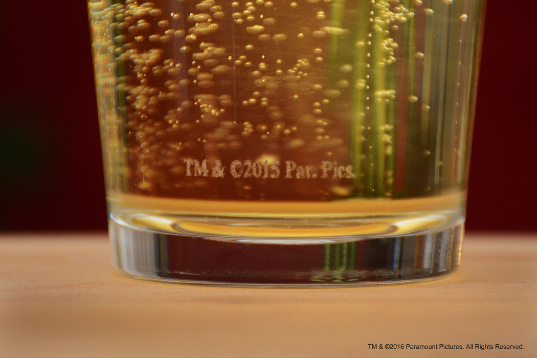 "Premium Etched Top Gun Movie Engraved Logo With Quote,""I feel the need.the need for ..."" Pint Glass"