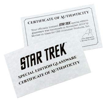 "Star Trek: The Next Generation ""Property Of U.S.S. Enterprise"" Rocks Glass Special Edition In Universe™ Classic Line Premium Etched By Movies On Glass Includes One Glass - 11 Ounces"