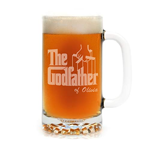 The Godfather Movie Large Beer Stein Personalized Officially Licensed Collectible Premium Etched By Movies On Glass 25 Ounces