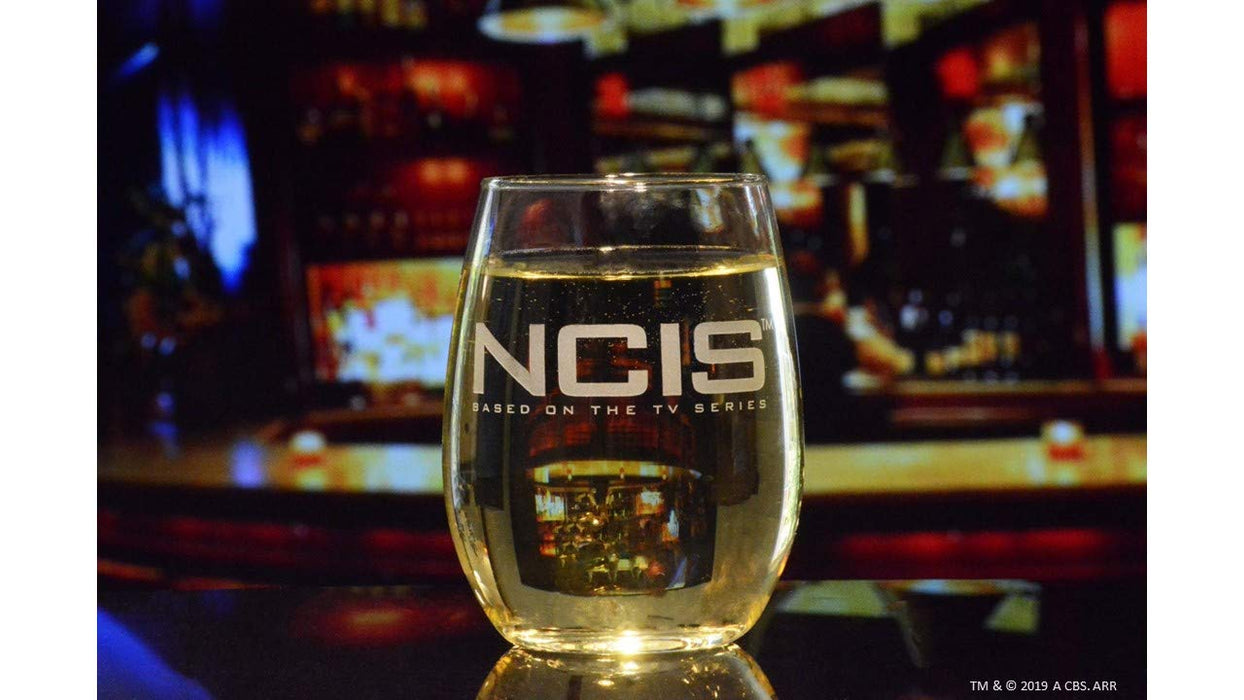 NCIS Stemless Wine Glass 15 Ounces Premium Etched By Movies On Glass