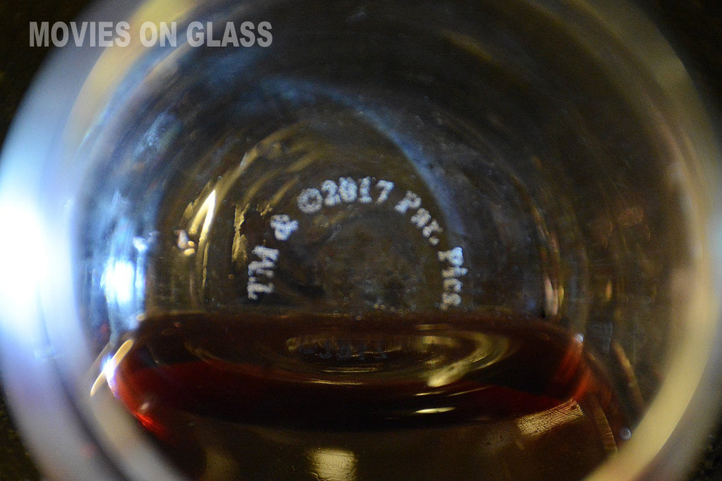 Movies On Glass - Premium Etched El Padrino Movie Engraved Logo Stemless Wine Glass